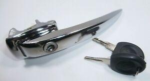 Piaobaige For//TRANSPORTER T4 1990-2003 Car Right Front Side Door Handle with 2 Keys Metal Door Handle Fit RHD 701837206