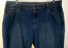 Liz Claiborne Straight Leg 5 Pocket Classic Jeans Sz 14 100% Cotton Logo Button