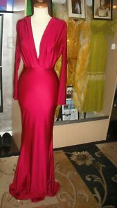 """Cher Owned and Worn Magnificent Maroon 'Halston"""" like dress from Promoter Deans"""