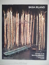 Basia Irland Art Gallery Exhibit PRINT AD - 1989