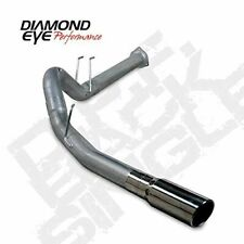 "Diamond Eye 4"" Stainless DPF Back Exhaust For 15-16 Ford F250 6.7 Powerstroke"