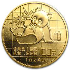 1989 China 1 oz Gold Panda Small Date BU (Sealed) - SKU #8964
