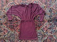Asos Dolman Sleeve Bodycon Dress Maroon Size 6