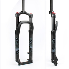 Heding Suspension Fork Ultralight Bike Front Fork 20 inch for 4.0 Tire Air 1-1//8 Disc Brake QR 9mm Travel 120mm Manual Lock Snow Beach XC MTB Bicycle Bicycle Accessories