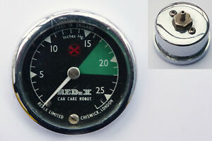 """Redex """"Car Care Robot"""" Period Classic car Vacuum Gauge, MG Mini Triumph Morris"""