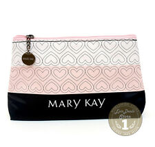 Mary Kay Cosmetic Organizer Bag Pink White Black Heart, Limited Edition!! NEW!!!
