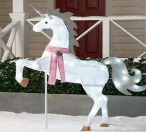 """51"""" LED Lighted Unicorn Christmas Yard Décor (New in Box) - FREE SHIPPING"""