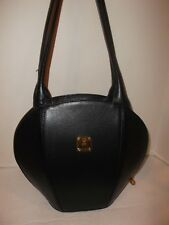 AUTHENTIC MCM LEATHER HANDBAG, MADE IN GERMANY BLACK