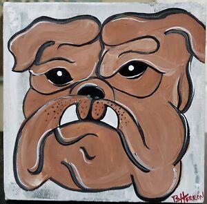 MS State Bulldogs by Brandy Herron  Original w/Writing