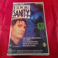 VHS Tape Edge of Sanity Clamshell R18+