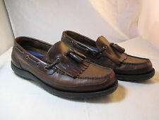 """Mens Field N' Forest Brown Leather Grand View Loafers Shoes Size 10M 1"""" Heels"""