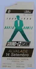 David Bowie Ticket Stub 1990 Sound+Vision Tour Concert in Lisbon Portugal