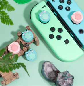 Cute Frog Soft Thumb Stick Grip Cap Protective Cover For Nintendo Switch & Lite