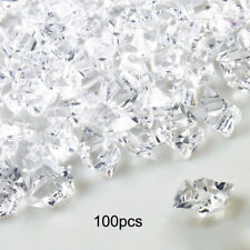 100PCS DIY Clear Fake Crushed Ice Rocks Ice Cubes Acrylic Vase Fillers Decors