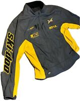 Ski Doo REV XP-S Team BRP Snowmobile RPM Coat Jacket Grey Yellow Mens XL