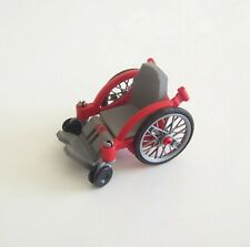 PLAYMOBIL (Y1212) HOPITAL - Chaise Fauteuil Roulant Rouge & Gris 4226