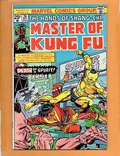 Master Of Kung Fu #28 Shang Chi  VF+
