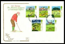 Honorary Company of Edinburgh Golfers Anniversary with British Open Golf stamps