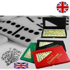 Double 6 Six Dominoes with Box Standard Traditional Travel Game 28 Tiles Game