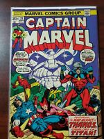 Captain Marvel #28 (Marvel 1973) Thanos App~Starlin~Avengers~Drax~Bronze Age~Key