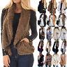 Women's Vest Jacket Casual Waistcoat Outwear Fur Fleece Sherpa Winter Warm Coat