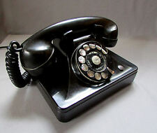 Vintage NORTH ELECTRIC Black Bakelite ROTARY DIAL TELEPHONE circa 1940's