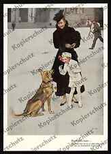 Brynolf Wennerberg Mädchen Spende Rotes Kreuz Sanitätshund Schäferhund DRK 1916