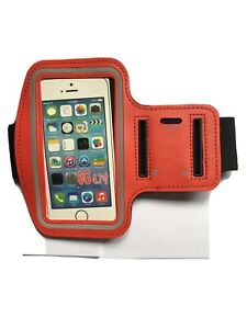 """SMARTPHONE SPORTS BAND FOR IPHONE 6/6S AND MOST 4.7"""" Phones Red With Key Holder"""