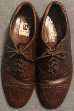 Bruno Magli Mens Italian Dress Shoes 10.5 M Brown Leather Wingtip EUC