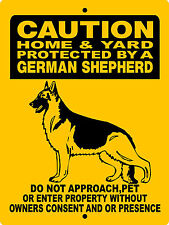 "GERMAN SHEPHERD  DOG SIGN,9""x12"" ALUMINUM SIGN,SECURITY,WARNING,H2496C5"