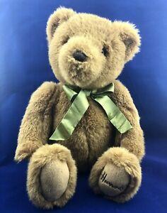 Harrods Store Teddy Bear 1990s Plush Stuffed Toy Collectible Green Bow Sri Lanka