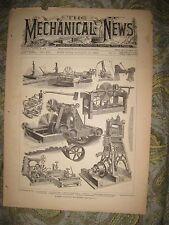 ANTIQUE 1883 SAW MILL SAWMILL MACHINERY FARMING EQUIPMENT PRINT TOOL EQUIPMENT