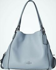 Coach 57125 Edie 31 Pebble Leather Shoulder Bag Sky/ssilver