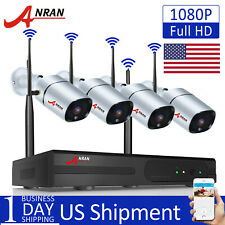 4CH 1080P Wireless WIFI Outdoor Security Camera System Home CCTV Video Kit IP66