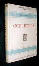 Manuali Hoepli Manuale di oculistica 1914 Domenico Bruno