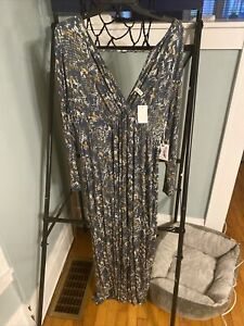 Jessica Simpson Printed Maternity Maxi Dress • Size 1x