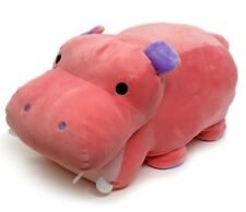Mochi Puni  Hippo Hippopotamus Safari Plush Stuffed Japanese Design Cushion NEW