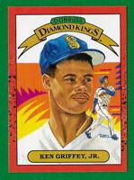 1989 Rookie Donruss Diamond Kings- Ken Griffey Jr. HOF Seattle Mariners. The Kid