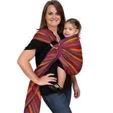 Maya Wrap Baby Ring Sling Size Small Bright Stripes Boho Hippie Zipper Pocket