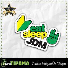 JDM eat sleep sticker decal car truck Low Race Drift Dope 4X4 offroad JDM KDM MT