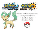 Pokemon Ultra Sun and Moon Eevee and Colorful Friends HA Leafeon Event Pokemon
