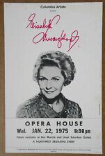 Elisabeth Schwarzkopf Opera House Seattle 1975 Cardboard Opera Concert Poster