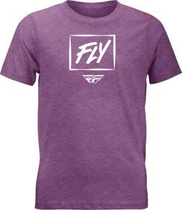 Fly Racing Youth Zoom Tee - Purple Heather