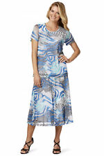 Noni B blue white printed lined Alexia desk to dinner party SKIRT 1XL 18 NEW