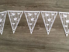 Dove Hearts White, Flags & Ribbon Wedding Bunting Banner