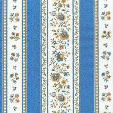 Textiles français Provençal fabric GORDES Cornflower Blue & White per 1/2 metre