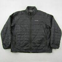 Gage Grundens Tech Jacket Adult 2XL XXL Men Black Nylon Full Zip Quilted Fish