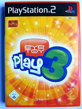 EyeToy: play 3 (Sony PlayStation 2, 2005, DVD-box)