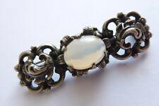 Wunderschöne seltene dekorative antike Brosche Silber mit Mondstein