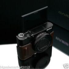 New GARIZ Sony RX100 IV Grip Type Half Case Brown For DSC-RX100M4 RX100IV Case